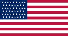 Amerikaanse vlag voor pasfoto's Amerika
